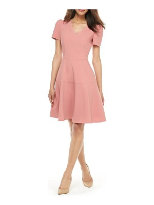 Gal Meets Glam Collection kate v-neck fit & flare dress
