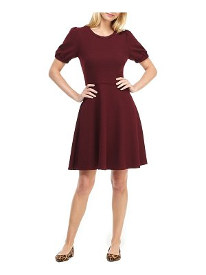 Gal Meets Glam Collection kristen ribbed fit & flare sweater dress
