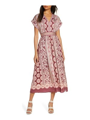 Gal Meets Glam Collection liza print charmeuse dress