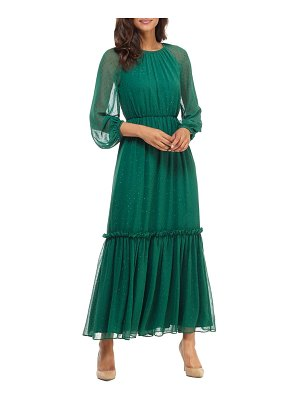 Gal Meets Glam Collection long sleeve chiffon maxi dress