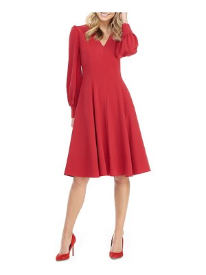 Gal Meets Glam Collection layla long sleeve fit & flare dress