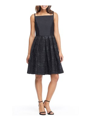 Gal Meets Glam Collection midnight floral jacquard dress