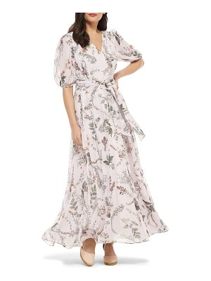 Gal Meets Glam Collection phoebe floral puff sleeve chiffon maxi dress
