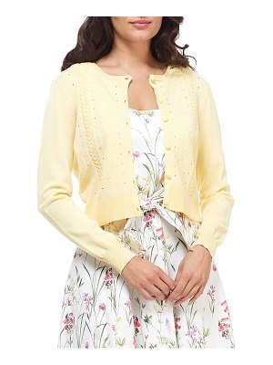 Gal Meets Glam Collection leah pointelle crop cardigan