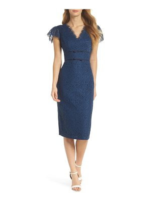 Gal Meets Glam Collection rosebud lace sheath dress