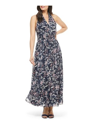 Gal Meets Glam Collection siena floral print halter neck chiffon maxi dress
