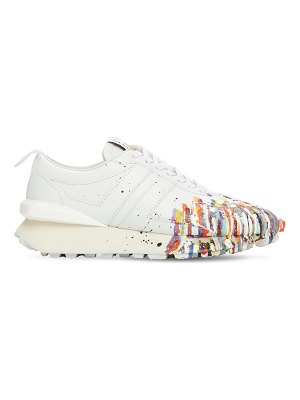 GALLERY DEPT X LANVIN Painted bumpr leather running sneakers