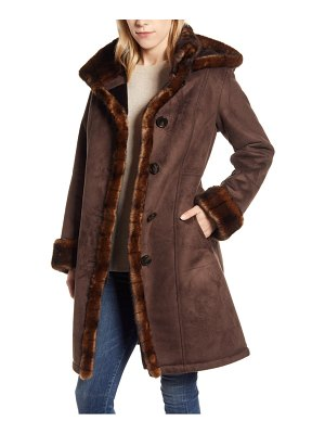 Gallery faux fur lined hooded coat