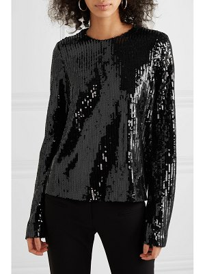 Galvan London clara sequined tulle top