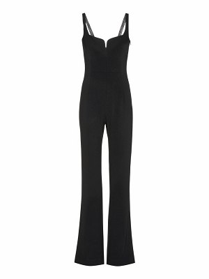 Galvan London corset crêpe jumpsuit