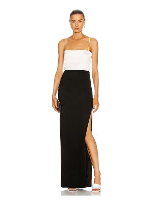 Galvan London crepe bandeau dress
