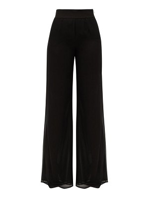 Galvan London double-layered georgette wide-leg trousers