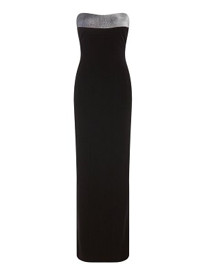 Galvan London frosted strapless gown