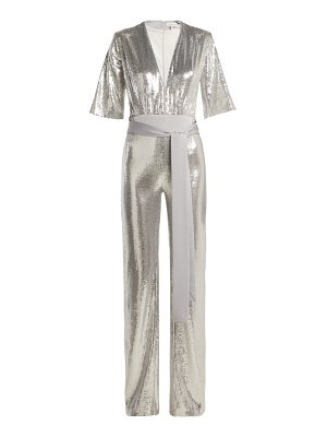Galvan London Galaxy Sequined Wide Leg Jumpsuit