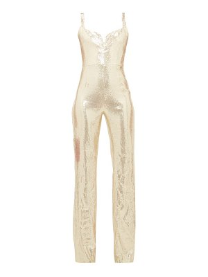 Galvan London galaxy sequinned jumpsuit