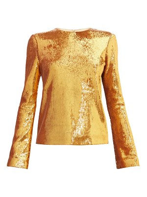 Galvan London gilded clara sequinned blouse