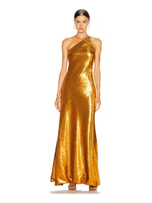 Galvan London gilded roxy dress