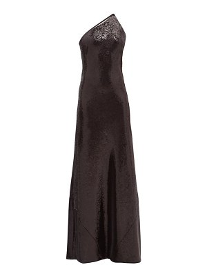 Galvan London gilded roxy one-shoulder sequinned gown