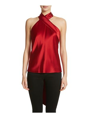 Galvan London halter neck satin top