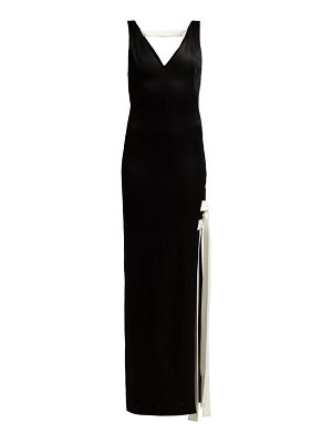 Galvan London High Shine Laced Gown