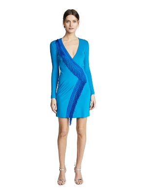 Galvan London lago fringe cocktail dress