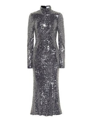 Galvan London legato sequined midi dress
