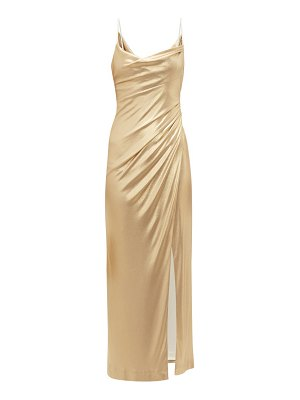 Galvan London mars metallic midi dress