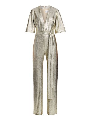 Galvan London metallic galaxy jumpsuit