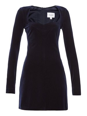 Galvan London nightfall velvet mini dress