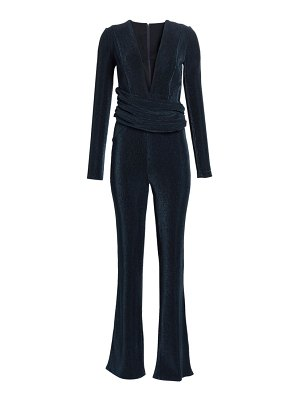 Galvan London origami wrapped corduroy jumpsuit