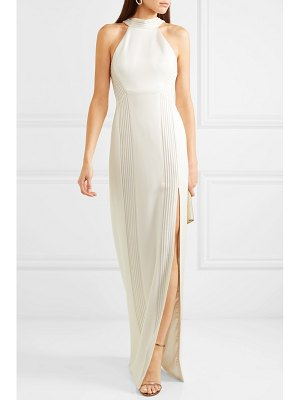 Galvan London palm beach ribbed jersey gown