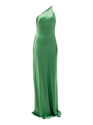 Galvan London roxy one-shoulder satin maxi dress