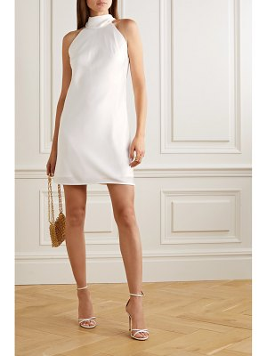 Galvan London satin halterneck mini dress