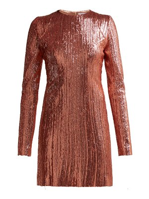 Galvan London Sequined Stretch Tulle Mini Dress
