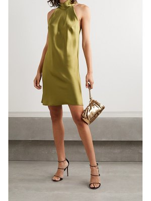 Galvan London sienna satin halterneck mini dress