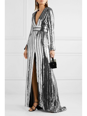 Galvan London stardust sequined chiffon gown