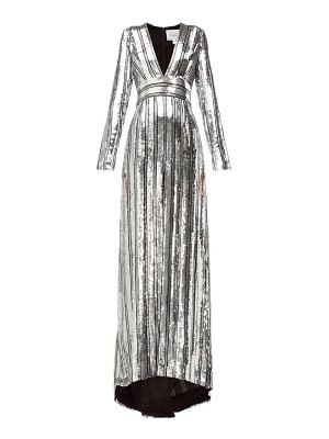 Galvan London stardust sequinned chiffon gown