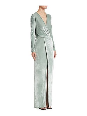Galvan London vera stretch velvet gown