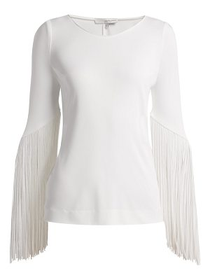 Galvan London vesper fringed top