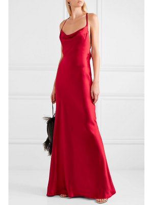 Galvan London whiteley open-back silk-satin gown