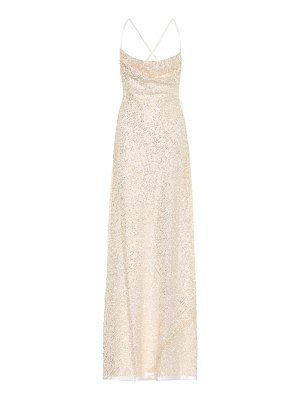 Galvan London whiteley sequined gown