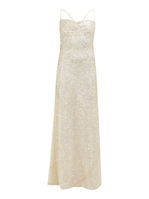 Galvan London whiteley sequinned maxi dress