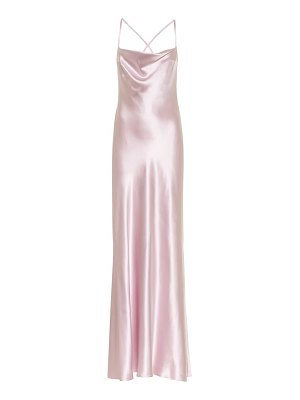 Galvan London whiteley silk satin dress