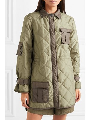 Ganni aspen quilted shell jacket