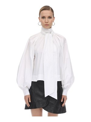 Ganni Back wrapped cotton poplin shirt