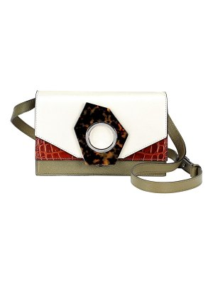 Ganni colorblock leather crossbody bag