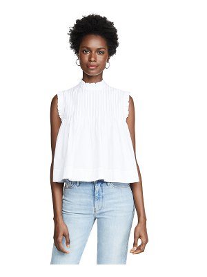 Ganni cotton poplin top