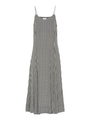 Ganni gingham crêpe midi dress
