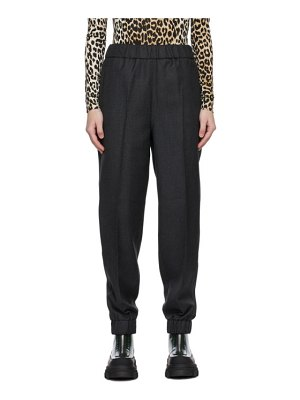Ganni grey elasticized suiting trousers