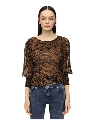 Ganni Interchangeable printed georgette blouse